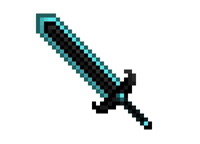 Как сделать рубиновый меч в майнкрафт