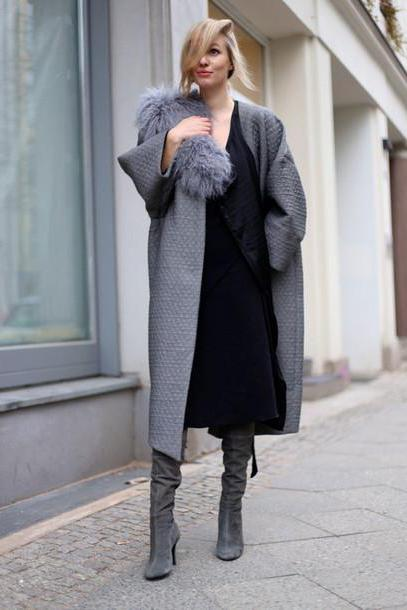 Oversized winter coat