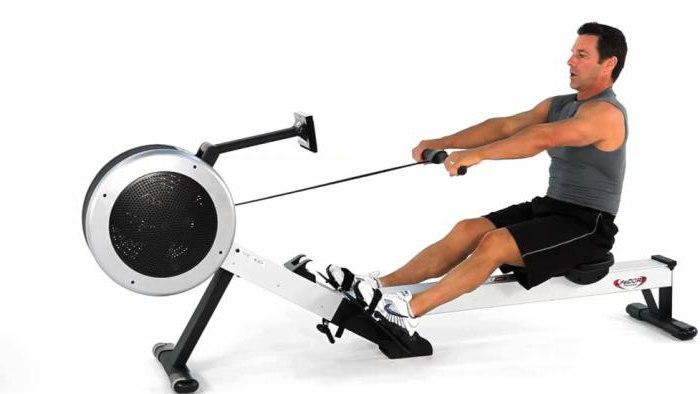Training on the rowing simulator
