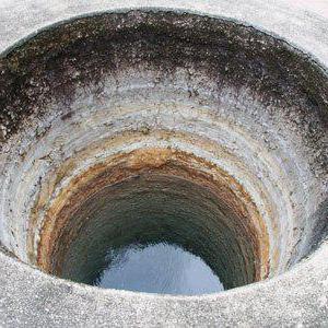 колодец чистка из бетонных колец