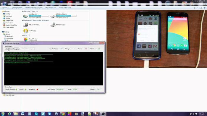 how to remove unnecessary system applications on android