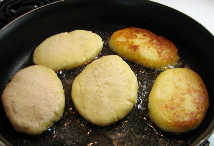 potato patties with cabbage