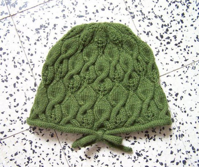 узор для шапок спицами