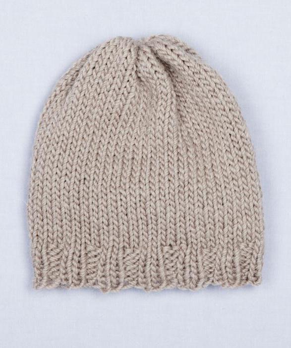 простые узоры для шапок спицами