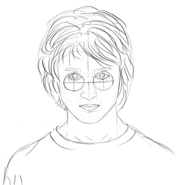 Harry Potter drawn in pencil