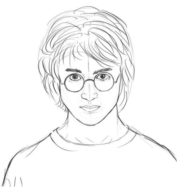 Как нарисовать героев из гарри поттера поэтапно