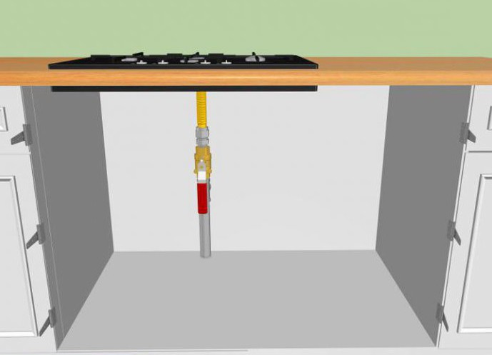 how to build a gas stove in the closet