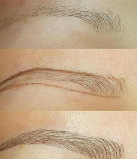 microblading eyebrow technique