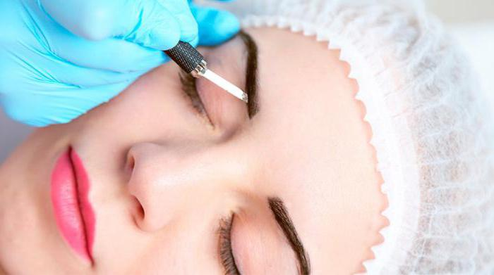 eyebrow microblading procedure
