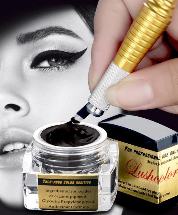 eyebrow makeup microblading
