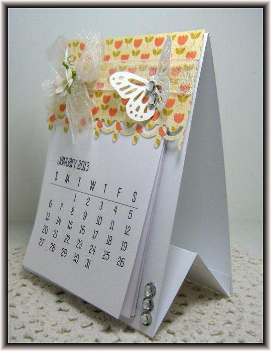 Настольный календарь сделать своими руками 60