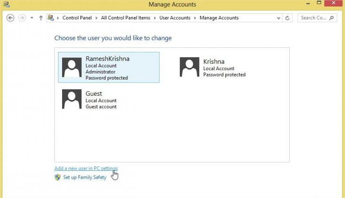 windows 8 account password
