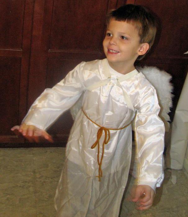 Костюм ангела для мальчика своими руками