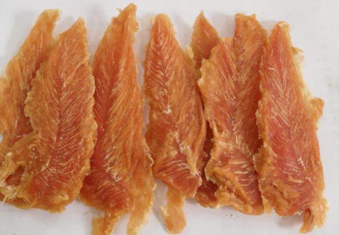 dried chicken breast with vodka