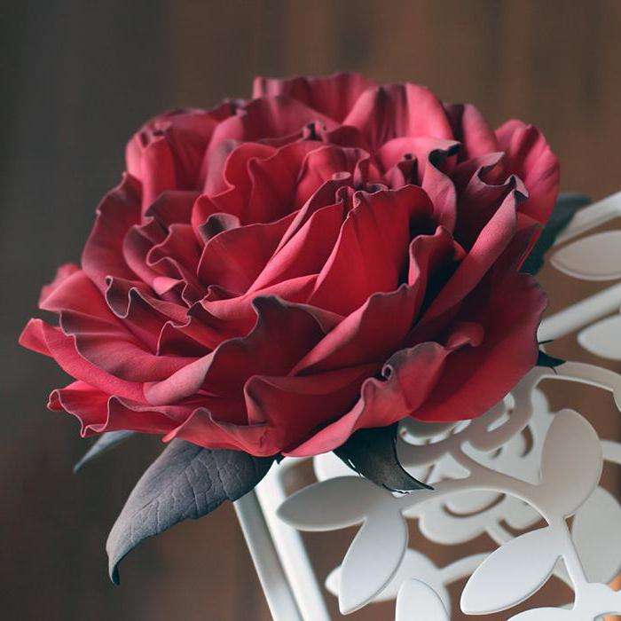 роза из фоамирана мастер класс с пошаговыми инструкциями