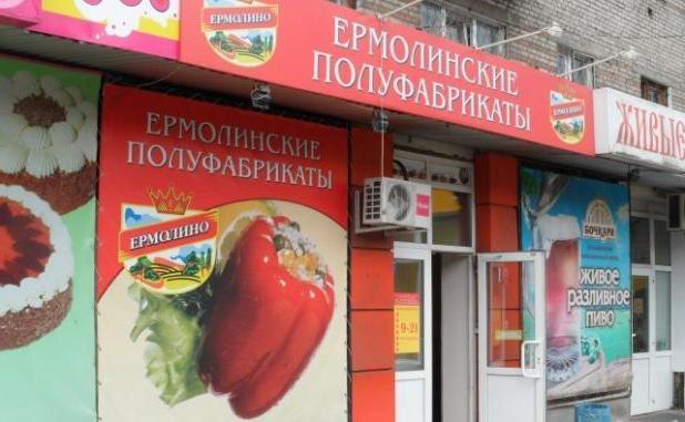 ермолинские полуфабрикаты адреса магазинов