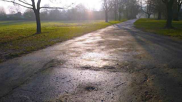 Wet asphalt color