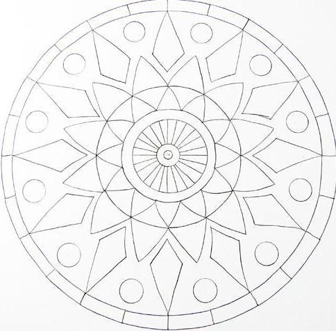 Рисуем мандалы поэтапно для начинающих
