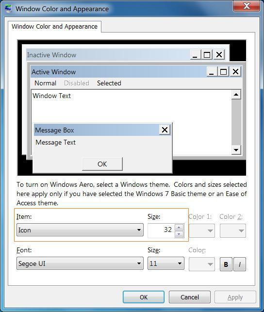 Как увеличить значок на рабочем столе Windows