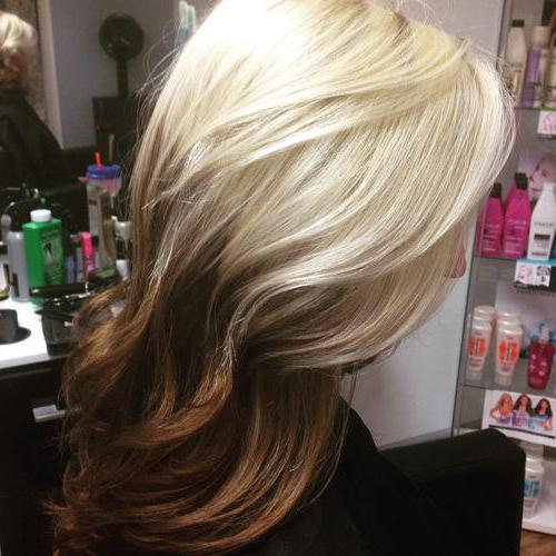 омбре на волосы средней длины фото