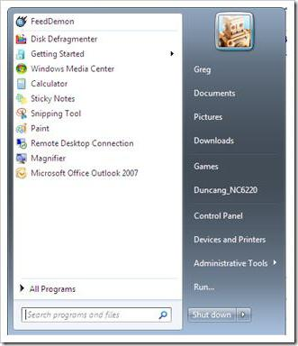 how to change user in windows 7