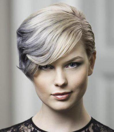 dark hair coloring short haircut