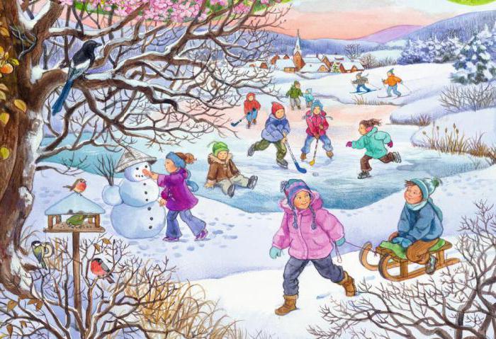 Картинки про зиму и лето детские