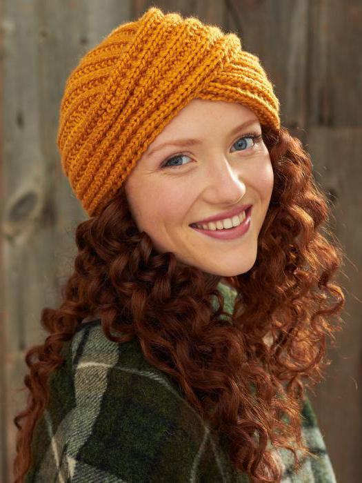 шапка чалма вязанная спицами описание
