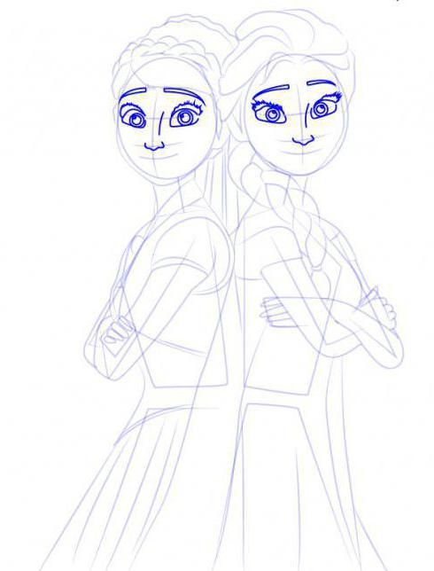 Анна и эльза как нарисовать поэтапно