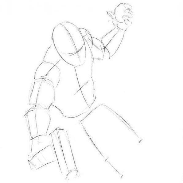 как нарисовать дэдпула поэтапно карандашом