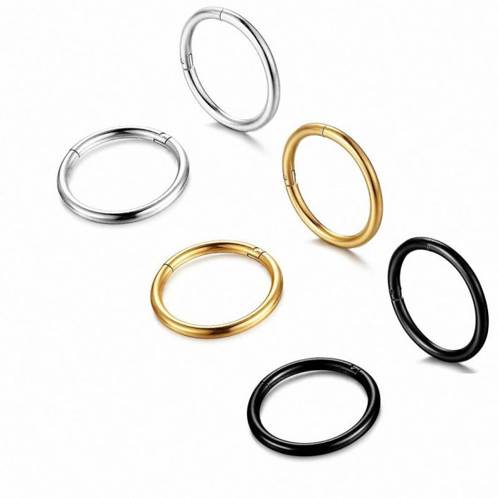 Как одевать кольцо в нос