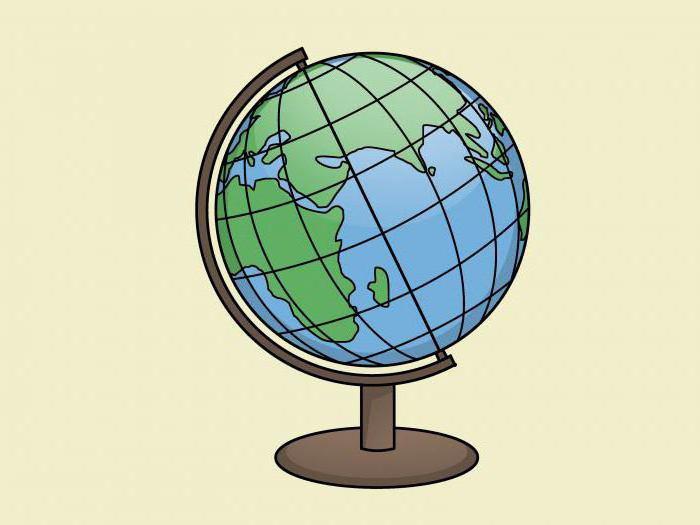 Глобус нарисовать