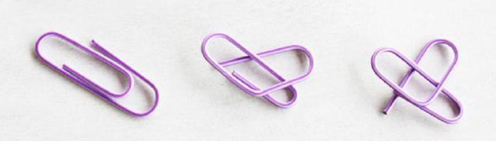 how to make a heart out of paper clips