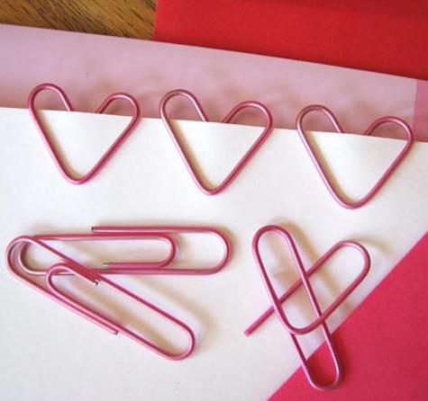 how to make a bookmark from a clip heart
