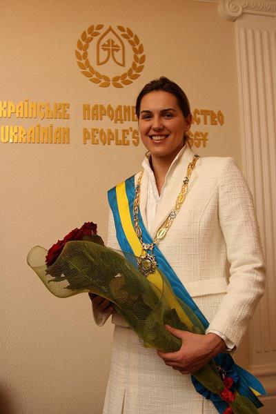 Ukrainian swimmer Yana Klochkova