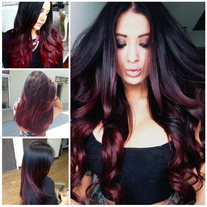 Цвет волос бургундия