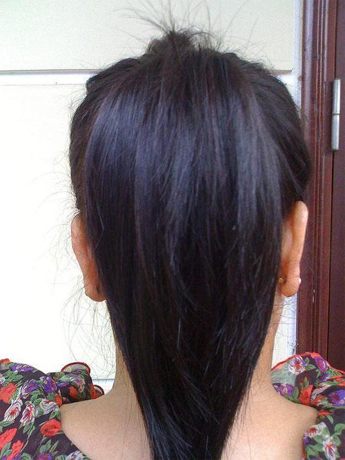 Фото женской стрижки лисий хвост