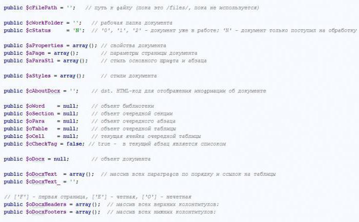 Example. Array Description