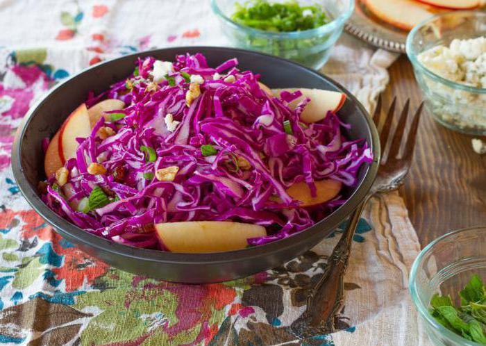 Рецепт синей капусты с майонезом