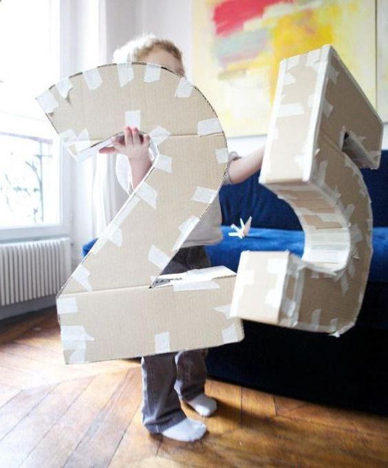 Как сделать цифру 4 из картона своими руками