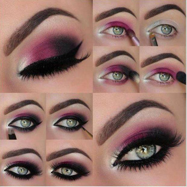makeup for the new year for green eyes