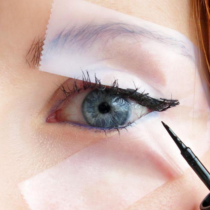 трафареты для рисования стрелок на глазах