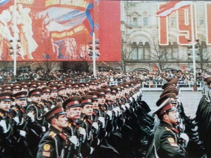 What holiday was celebrated on November 7 in the USSR