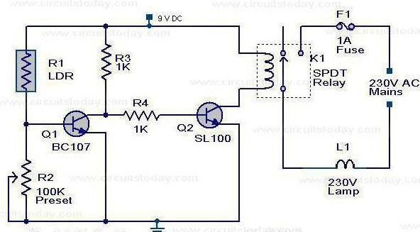 light sensor for street lighting wiring diagram