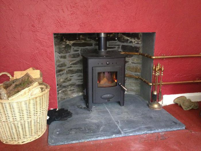stove fireplace for a house with water heating