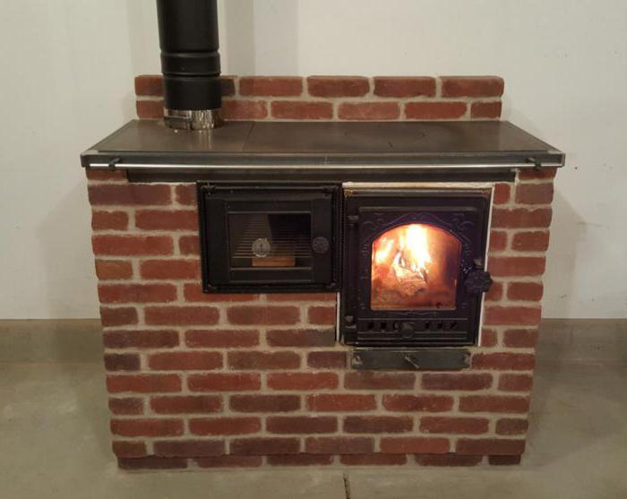 stove fireplace with a water heating circuit