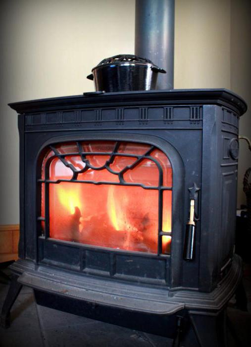 stove with water heating with fireplace