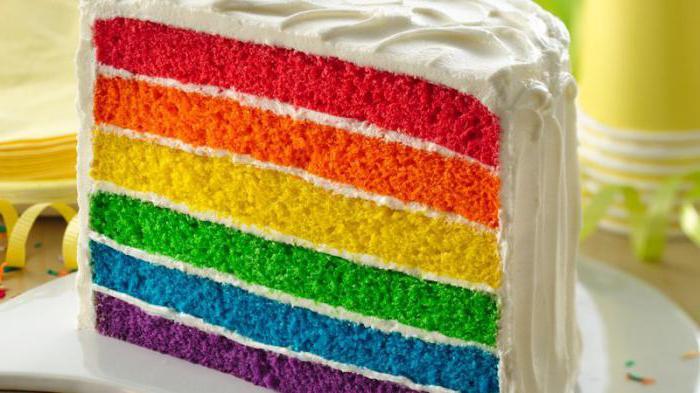 как испечь радужный торт