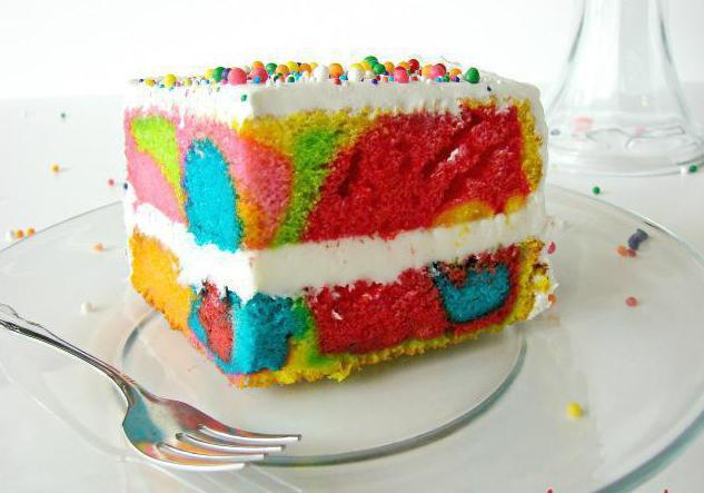 rainbow bonbonbon cakes