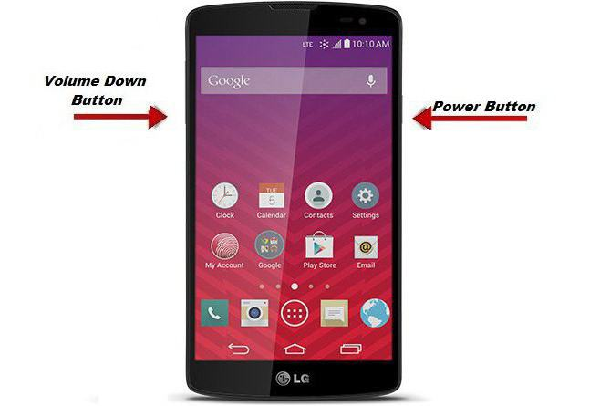 how to take a screenshot of the screen on the phone lg